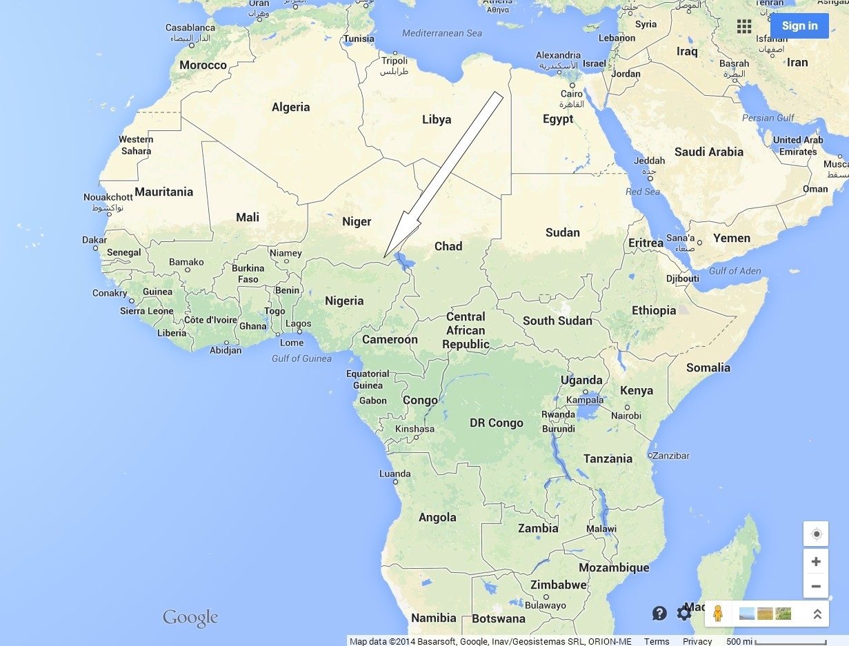 Africa Map Atlantic Ocean Nigeria Facts & Maps | Sisters, Home Visitors of Mary
